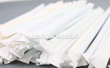 Automatic Single Drinking Straw Packing Machine Packing / Wrapping for Paper Straw